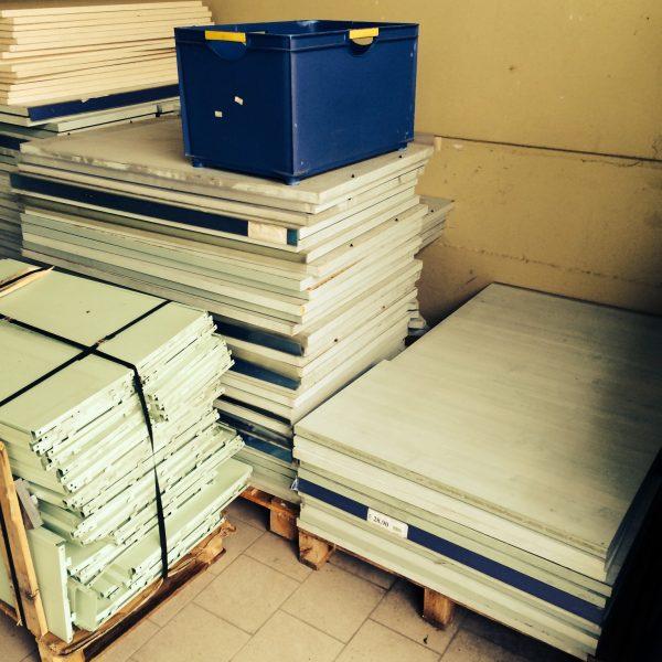 scaffalature usate per negozio smontate - Shop metal shelves S.G.A. Srl